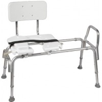 DMI® Heavy Duty Sliding Transfer Bench with Cut-Out Seat