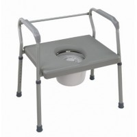 DMI® Heavy-Duty Steel Commode with Platform Seat