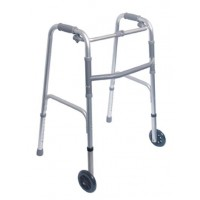 "DMI® Single Release Folding Walkers w/ 5"" Non-Swivel Wheels"
