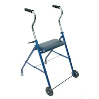 DMI® Steel Walker w/ Wheels and Seat
